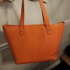 d140475009 Lauren Ralph Lauren Bags - Lauren Ralph Lauren Newton Orange Tote Bag